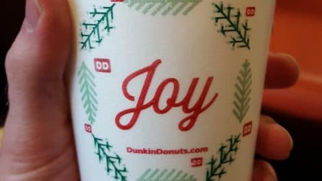 Dunkin Donuts holiday cup