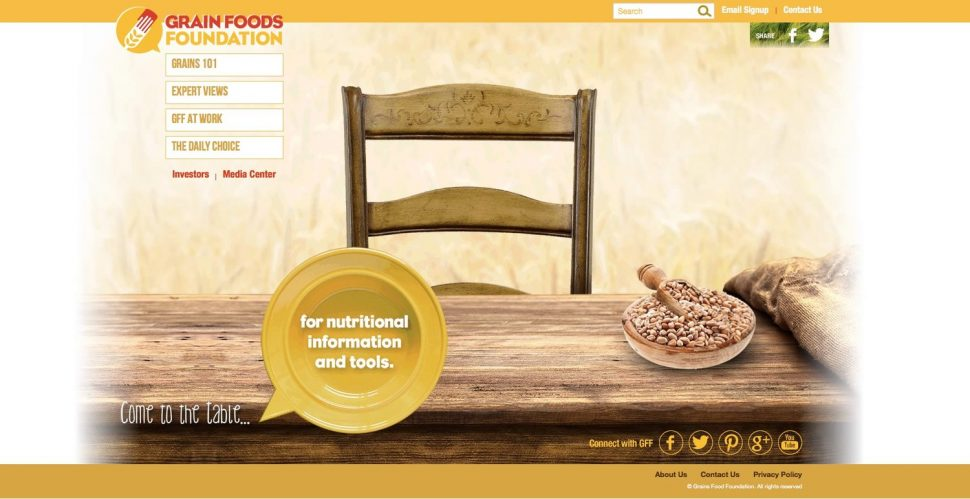 Grain Foods Foundation Website