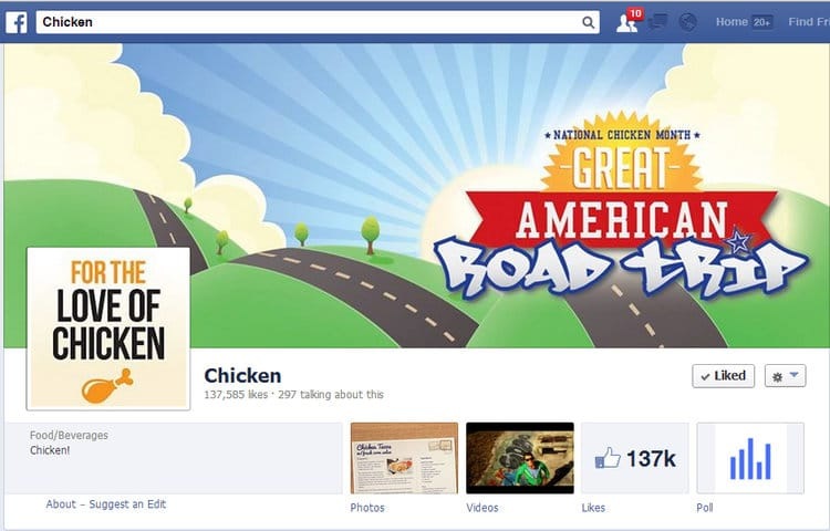 National Chicken Council Great American Road Trip Facebook