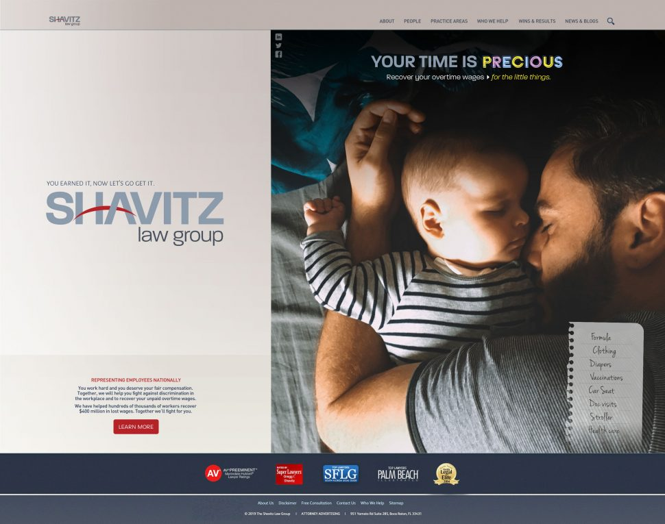 Shavitz Law Group Wwbsite