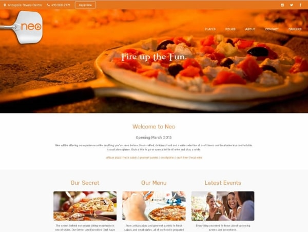 Neo Pizza Website