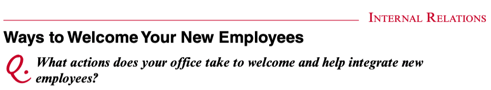 Ways to Welcome New Employees