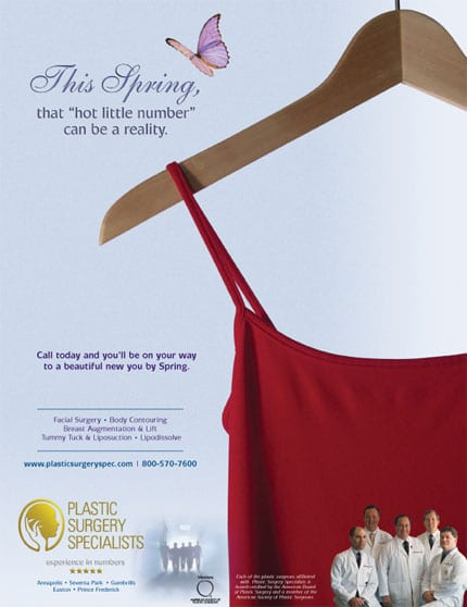 Plastic Surgery Specialists Ad