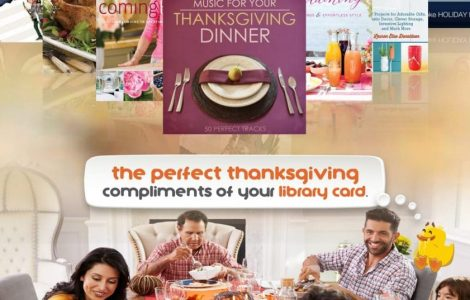 the perfect thanksgiving compliments of your library card